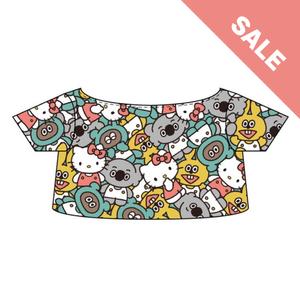【たぬきゅんフレンズ×ハローキティ】ぬいぐるみ用総柄Tシャツ《SALE》