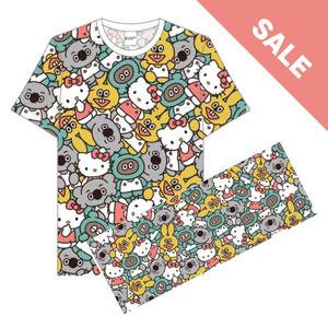 【たぬきゅんフレンズ×ハローキティ】総柄Tシャツタオルセット《SALE》