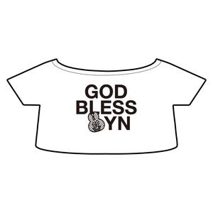 【たぬきゅんフレンズ×TLGF】「Bless Friends」ぬいぐるみ用 Tシャツ ラビやん「YNGB」